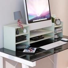 Высокое качество компьютерная клавиатура полка монитор Настольный стеллаж для хранения поднимает монитор базовый экран