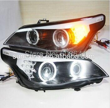 For BMW original car with HID kit E60 523i 525i 530i Head Light LED Angel Eyes 2004-08 Year