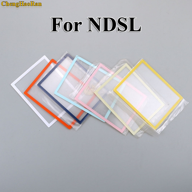 ChengHaoRan 1 pcs ด้านบนหน้าจอ LCD Len พลาสติกเปลี่ยนสำหรับ DS Lite สำหรับ NDSL คอนโซลเกม