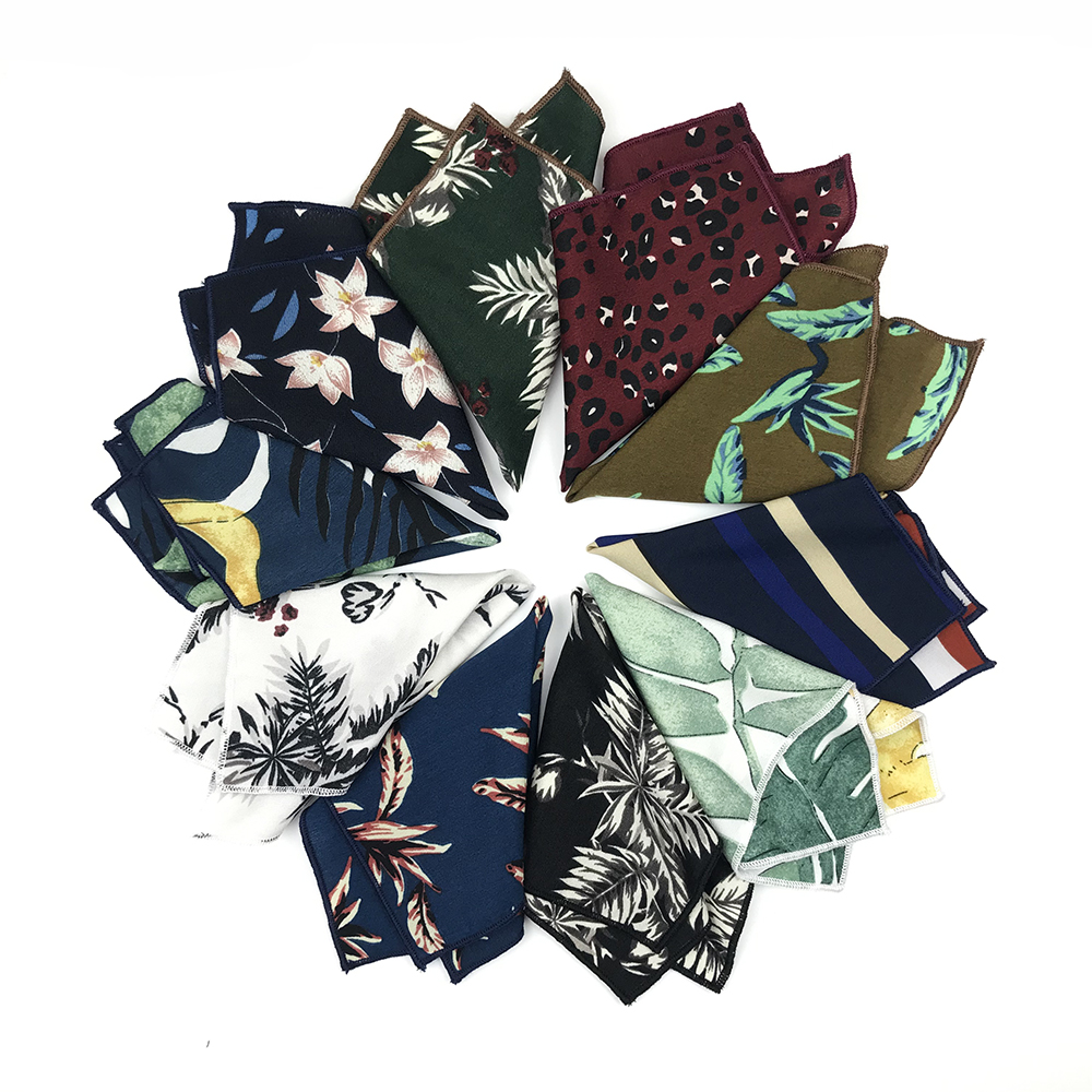 2019 New Summer Chiffon Georgette Floral Mens Pocket Squares