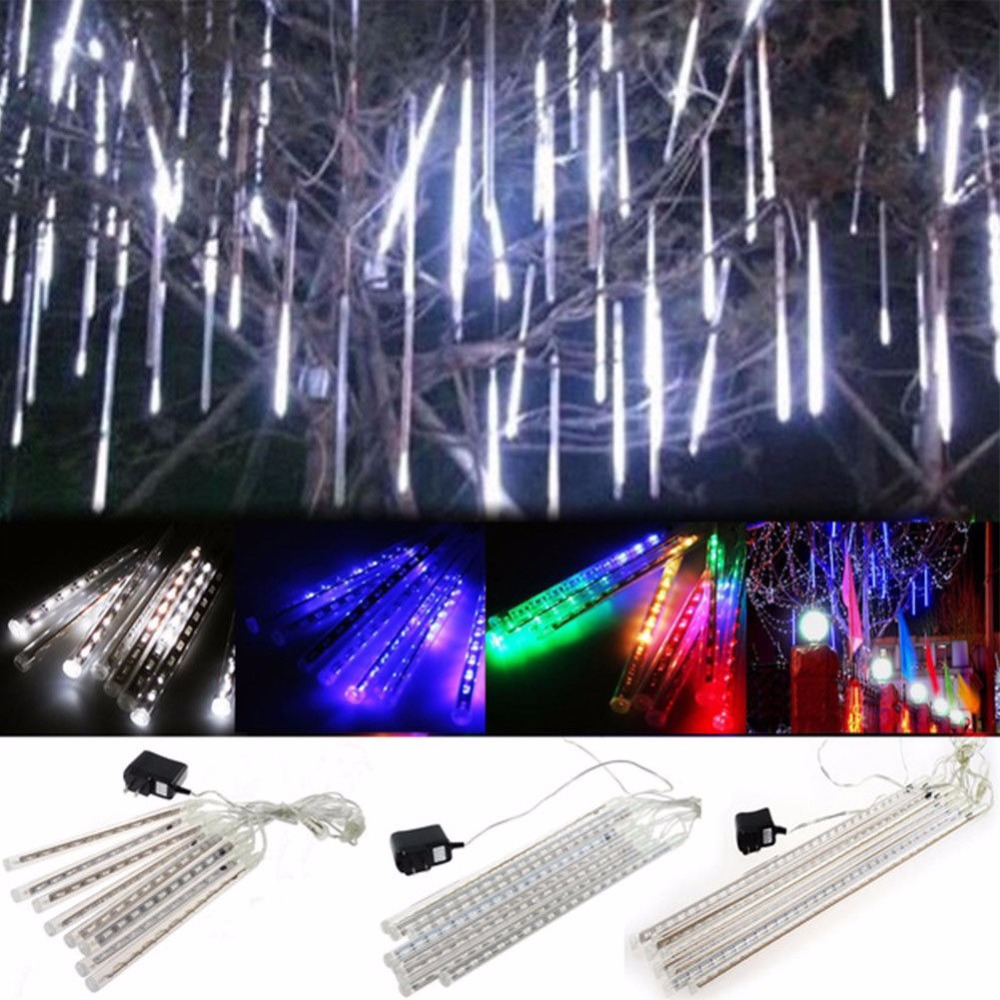 30cm LED Lights Waterproof Meteor Shower Rain 8Tube Outdoor Light Xmas Tree