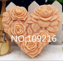 New Product!!1pcs Five Roses(zx190) Food Grade Silicone Handmade Soap Mold Crafts DIY Mould
