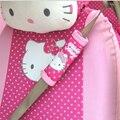 2 Шт./пара Hello Kitty Автомобилей Ремней Безопасности Ремень Мягкие Подплечники Обложка Розовый Подушка Жгут Pad Protector