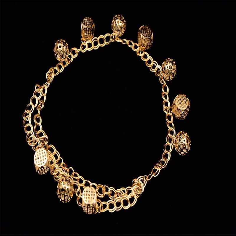 2017 Good quality Rhinestone Dubai Ethiopian gold color Nigerian wedding african beads jewelry set  women  parure bijoux Plaque