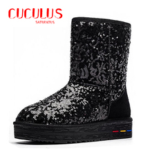 BUYINIAO wholesale Australia Classic Snow Boots Women's Cow Suede Winter Classic boots 5827