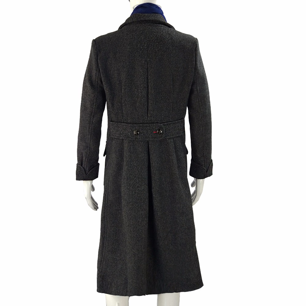 Sherlock Holmes Cape Coat Costume Cosplay Jacket Wool Christmas Gift With Scarf7