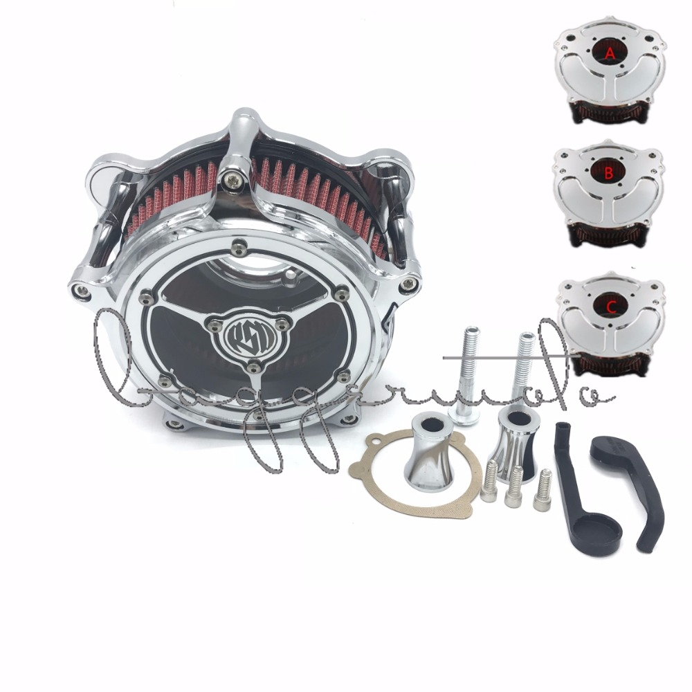 Motorcycle Air Cleaner Intake Air Filter CNC Aluminum Crafts For Harley Sportster Dyna Softail Touring Touring