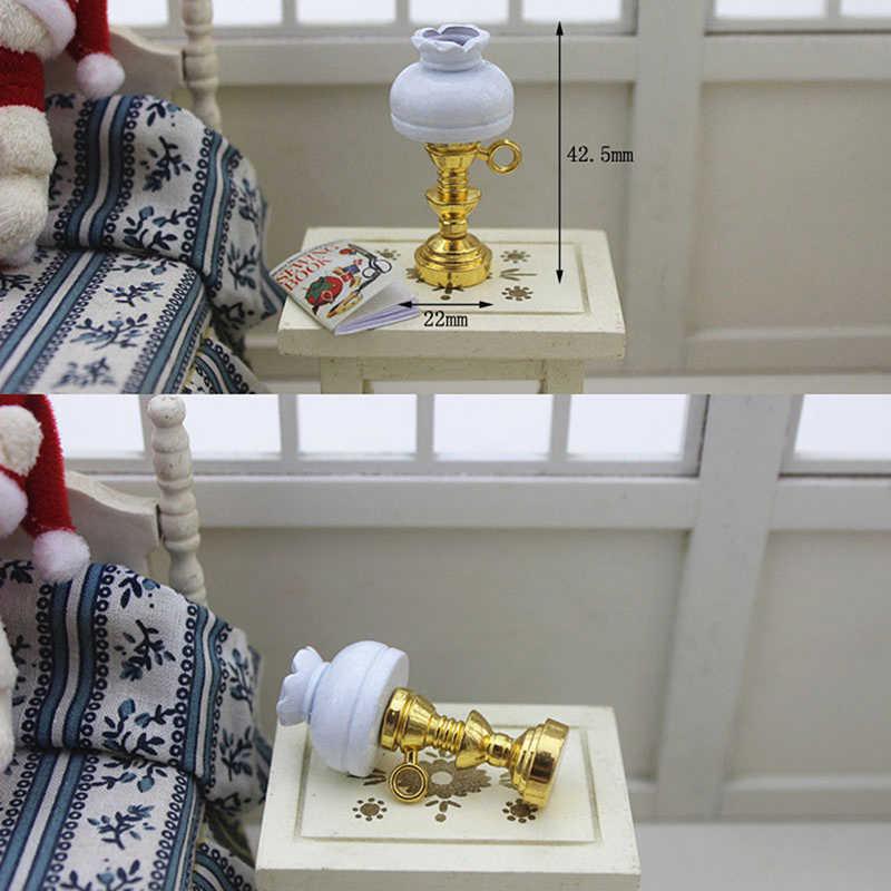 Мини настольная лампа миниатюрная люстра комната для кукольной мебели 1/12 кукольный домик декорация Рождественский подарок