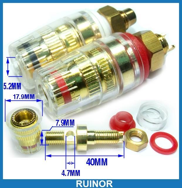 ФОТО 10pc Binding Post for Amplifier Speaker 4mm Banana Plug