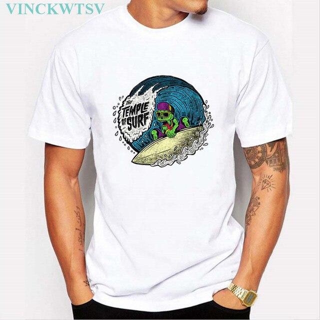 Camiseta de los hombres de Mar Palmera Diseño de tablas de Surf de Verano surfer  Camisetas 8065599cde9