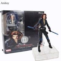 SHF Super Heros Black Widow PVC Figure Collectible Toy 15cm KT4057