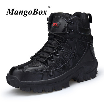 2018 Luxury Brand Combat Mens Boots Non-Slip Working Shoes For Men Comfortable Military Tactical Footwear Beige Black Army Boots