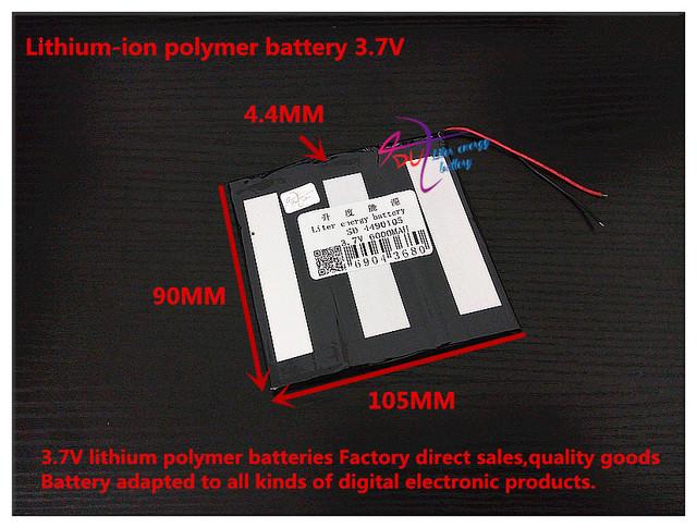 3.7 V 6000 mAH 4490105 (bateria de iões de lítio polímero) bateria Li-ion para tablet pc banco de potência