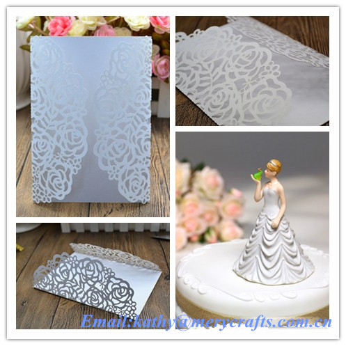 Laser Cut Wedding Invitation Pocket Greeting Cards Wedding