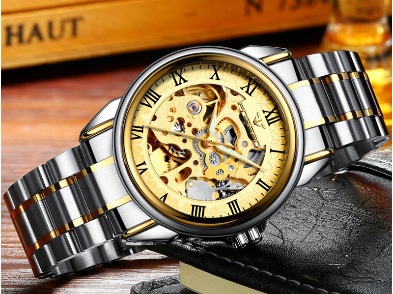 HTB1 PDymS I8KJjy0Foq6yFnVXaz - Men Watches Automatic Mechanical Watch Male Tourbillon Clock Gold Fashion Skeleton Watch Top Brand Wristwatch Relogio Masculino