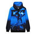 Harajuku 3D Print Small Monster Red Eyes Graphic Blue Hoodies Loose Long Sleeve Pullovers Casual Sweatshirts Unisex Tracksuits