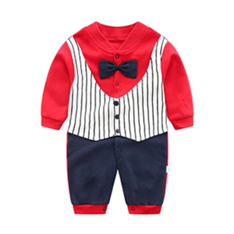 6aaddaa52d4d ... New Baby Rompers Cotton Long Sleeve Beard Print Clothing Plaid Overalls  for Newborn Baby Clothes Boy ...