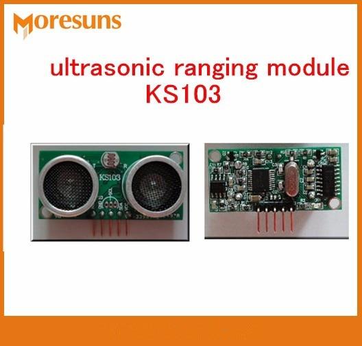 Fast Free Ship 5pcs High end ultrasonic ranging module KS103 blind area 1cm 8m range 3