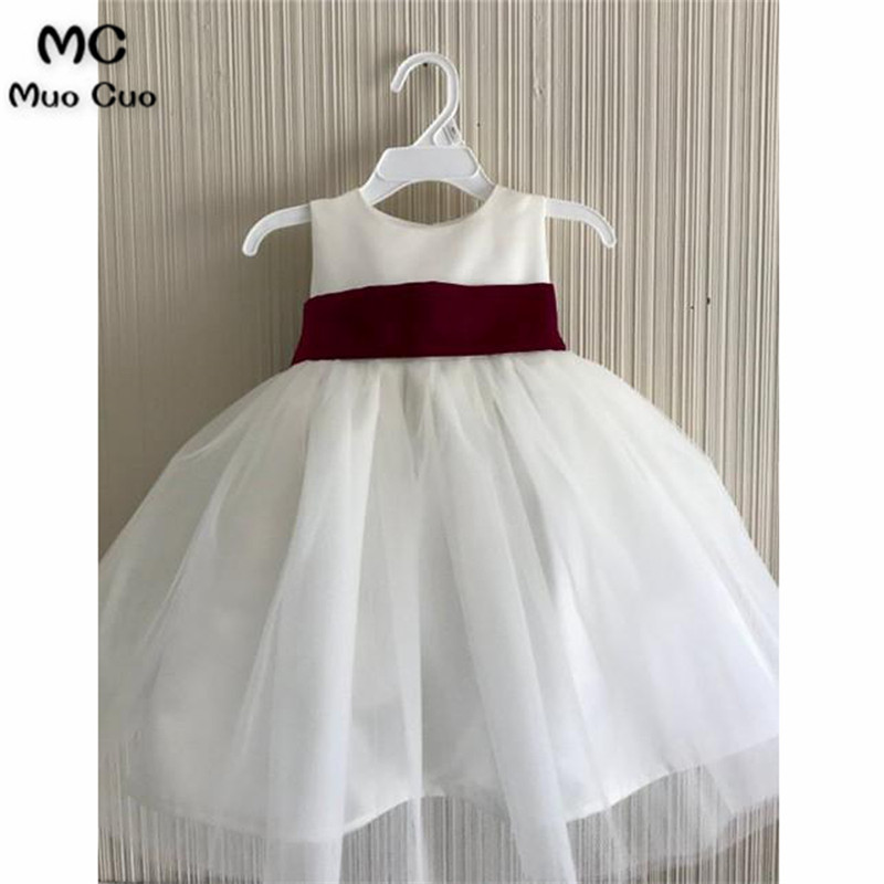 Lovely 2018 Ball Gown first communion   dresses   for   girls   Ribbon kids evening gowns   flower     girl     dresses   for weddings