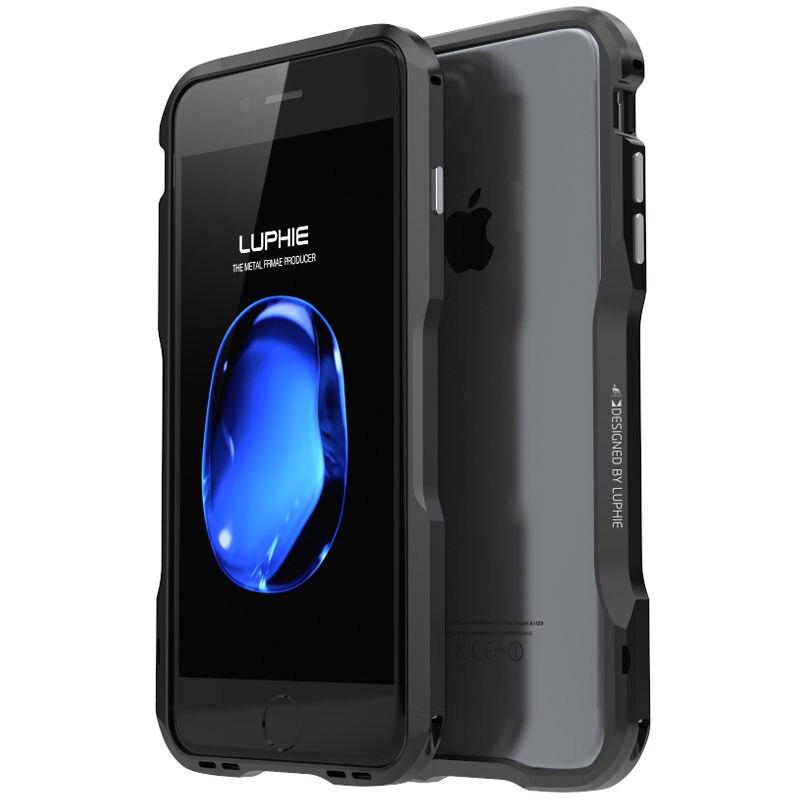 imágenes para Cubierta De Aluminio Del Metal para el iphone de Apple 7 Caso de Parachoques Prismático forma Del Teléfono Protector lateral de Parachoques del Metal para el iphone 7 Más Shell