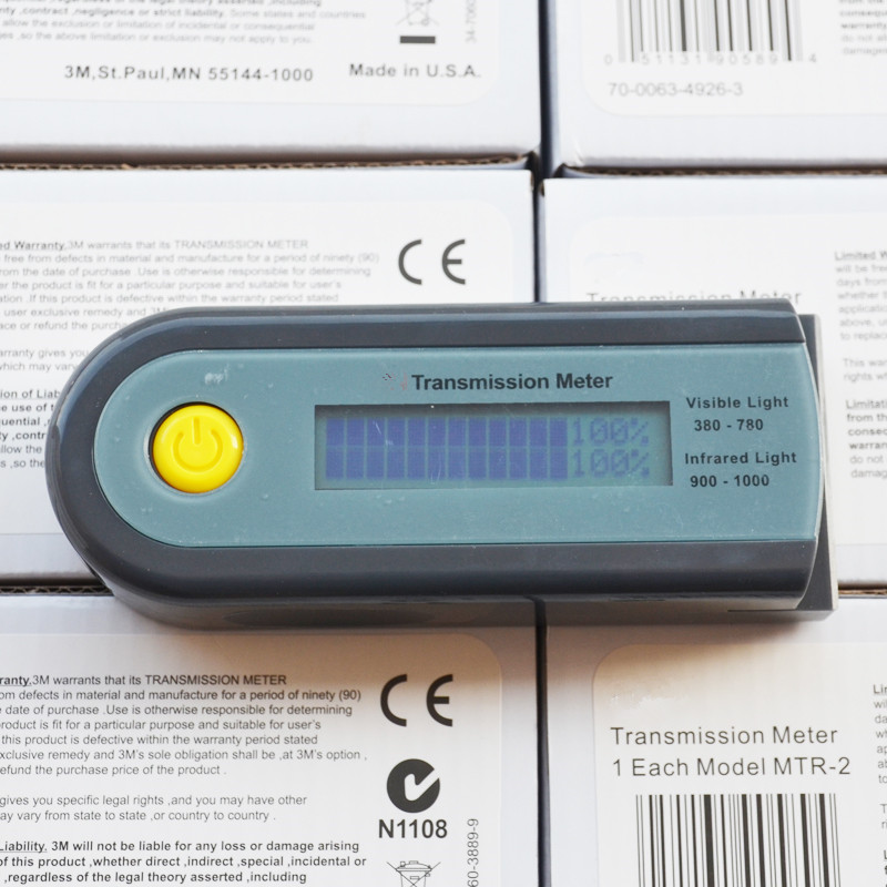 Transmission Meter Solar Films Tester Visible Infrared Barrier Tester Light Solar Transmittance Blocking Rate Light Meter