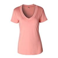 2017 hot selling high quality pure color t shirt short sleeve sexy deep v neck women.jpg 200x200