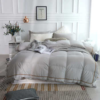 Luxurious 1000 TC 100%Cotton Cover Goose Down Comforter Duvet cover Insert Queen King size White Pink Grey Comforter All Season - DISCOUNT ITEM  43% OFF All Category
