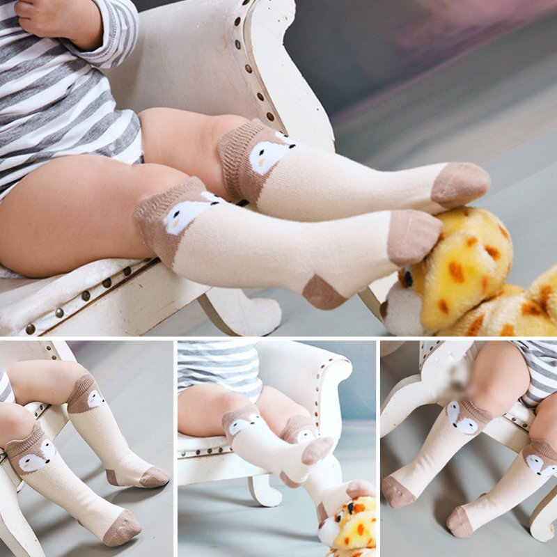 Infant Toddler Baby Long Socks Cotton Blend Soft Warm Anti-slip Knee Socks Gifts X16