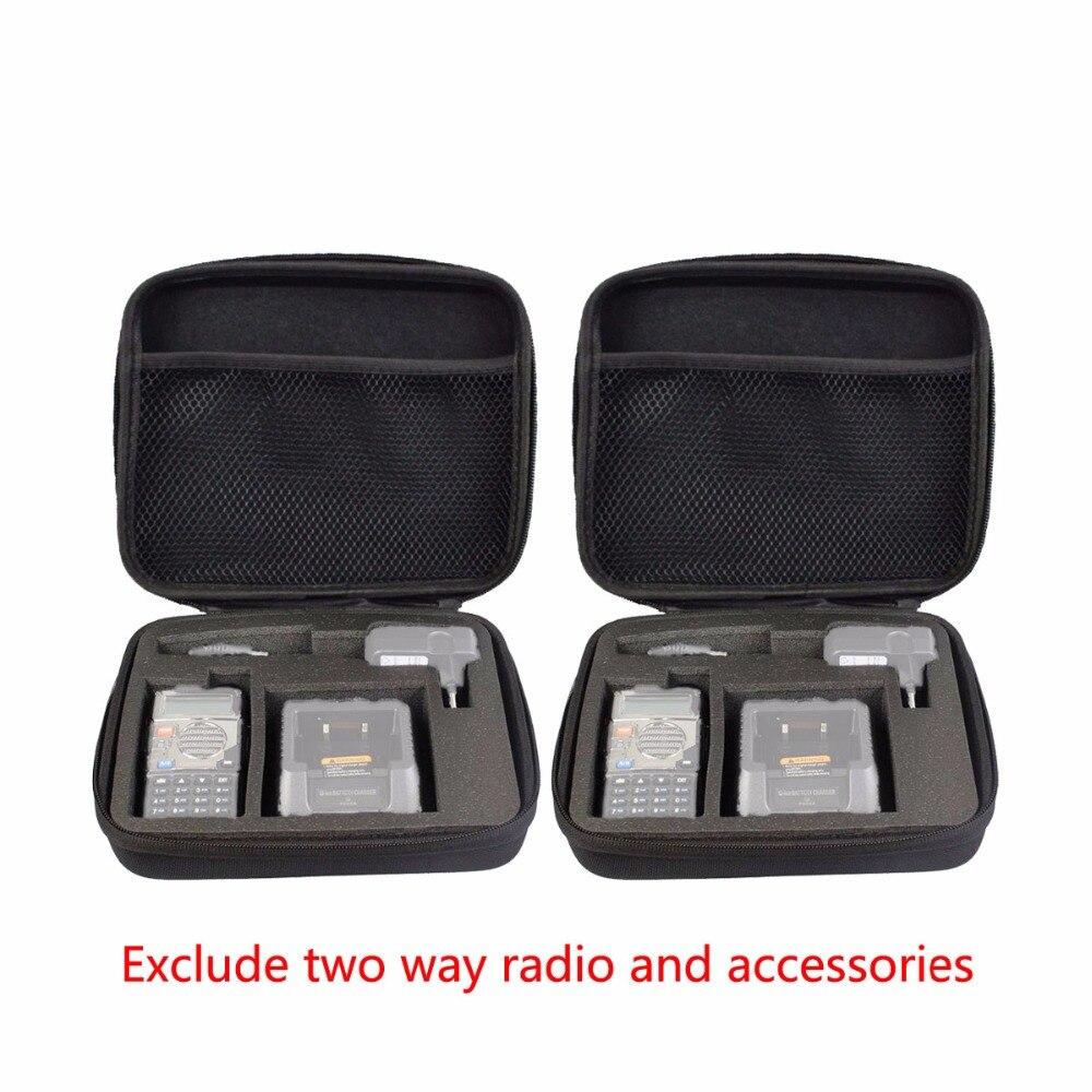 bilder für 2 stücke zugeschnitten aufbewahrungsbox/bag tragetasche für baofeng uv-5r für tyt th-f8 retevis rt-5r tragbare radio zubehör j7105n