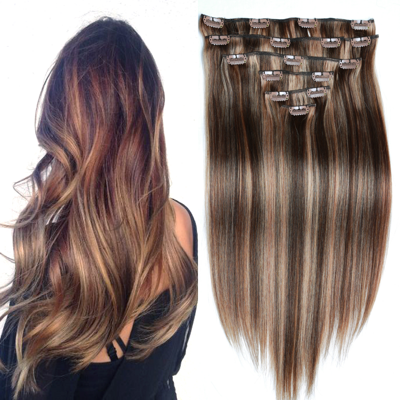 Aliexpress buy factory customize color 427 brazilian aliexpress buy factory customize color 427 brazilian virgin hair clip in extension straight 160g clip in human hair extensions piano clip ins from pmusecretfo Images