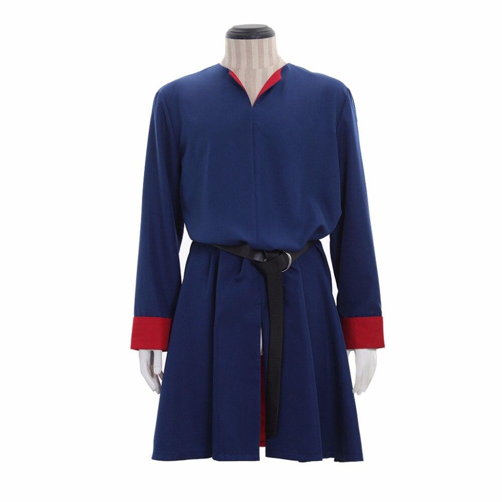 где купить Whole Sale Medieval Long Blue Mens Tunic Medieval Mens Upper Tunic Costume with Belt L0516 по лучшей цене
