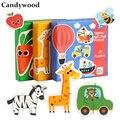 Деревянные игрушки Пазлы Candywood  пазлы с животными/дорожками/овощами  Большая головоломка для детей  обучающие игры для раннего развития
