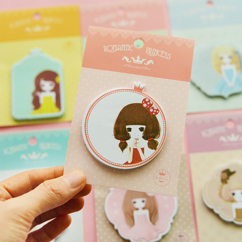 5 pcs/lot South Korea stationery lovely sweet princess series pad N times posted message post-it notes
