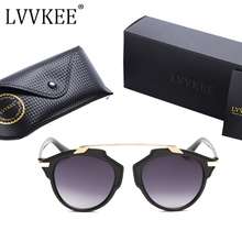 LVVKEE brand Hot sale Cat Eye ladies Fashion Sunglasses Mens Womens Superstar Rihanna Sun glasses UV400 oculos Small size