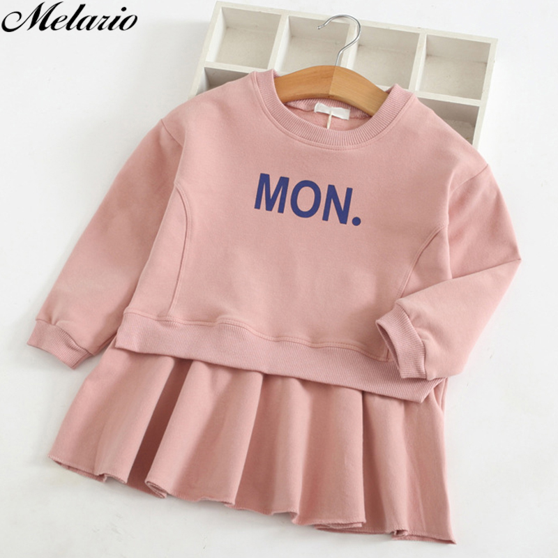 Fashion 2018 New Autumn Girls Dress Cartoon Kids Dresses Long Sleeve Princess Girl Clothes For 2-7Y Children Party Striped Dress