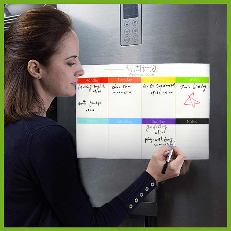 A3 WhiteBoard Planner Board Magnetic Whiteboard Chore Daily