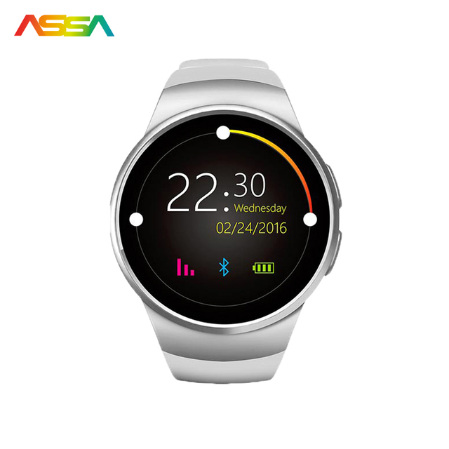 Fashion Heart Rate Monitor Smart Watch SIM TF Smartwatch Android 2.5D OGS Touch Screen Smart Wristwatch Bluetooth Facebook Buit