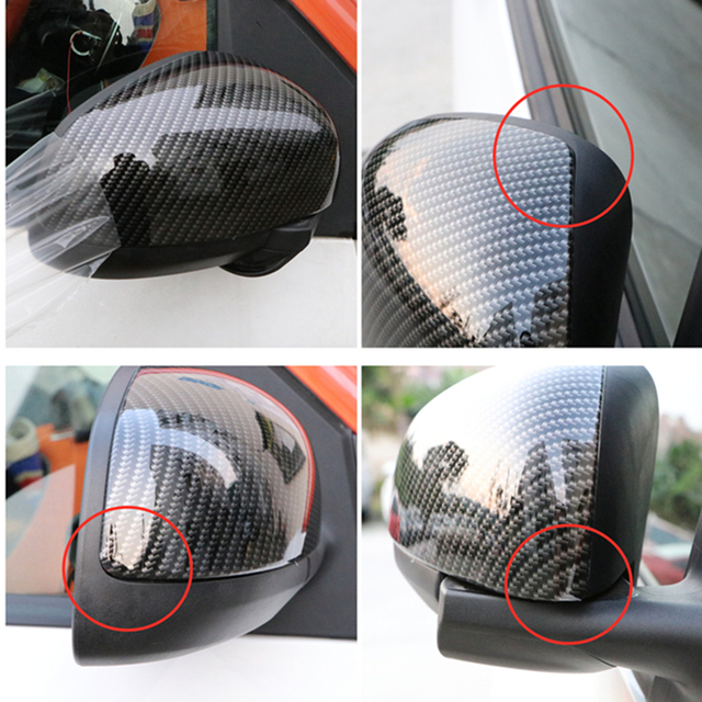 Car rearview mirror personality modification accessories for Mercedes new Smart 453 Fortwo Forfour plastic car sticker styling 2