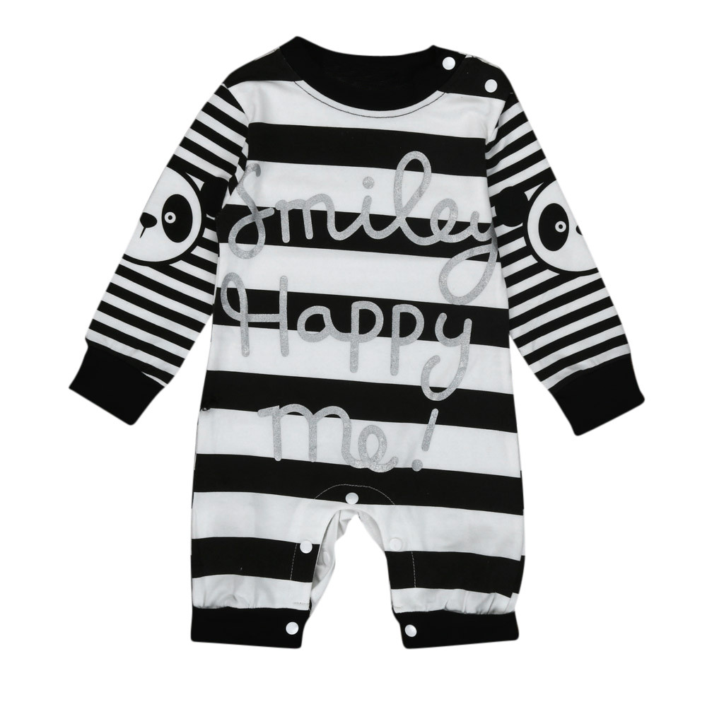 Newborn Infant Toddler Baby Boys Girl Stripe Panda Print Romper Jumpsuit Outfits Clothes costume for kids children clothes panda baby rompers one piece newborn toddler outfits baby boys clothes little girl jumpsuit kids costume baby clothing roupas infantil