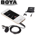 BOYA BY-LM10 Omnidirectional Lavalier Microphone for iPhone 7 7s 6 6s 5 4s Sumsang GALAXY Xiaomi Smartphone Broadcast Recording