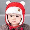 Детские Hat 4 цветов шлемы детей зимой согреться крышки девушки парни шапочка милый медведь шапки # 355