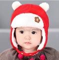 Baby Hat 4 Colors Children Hats Winter Keep Warm Cap Girls Boys Beanie cute bear caps #355
