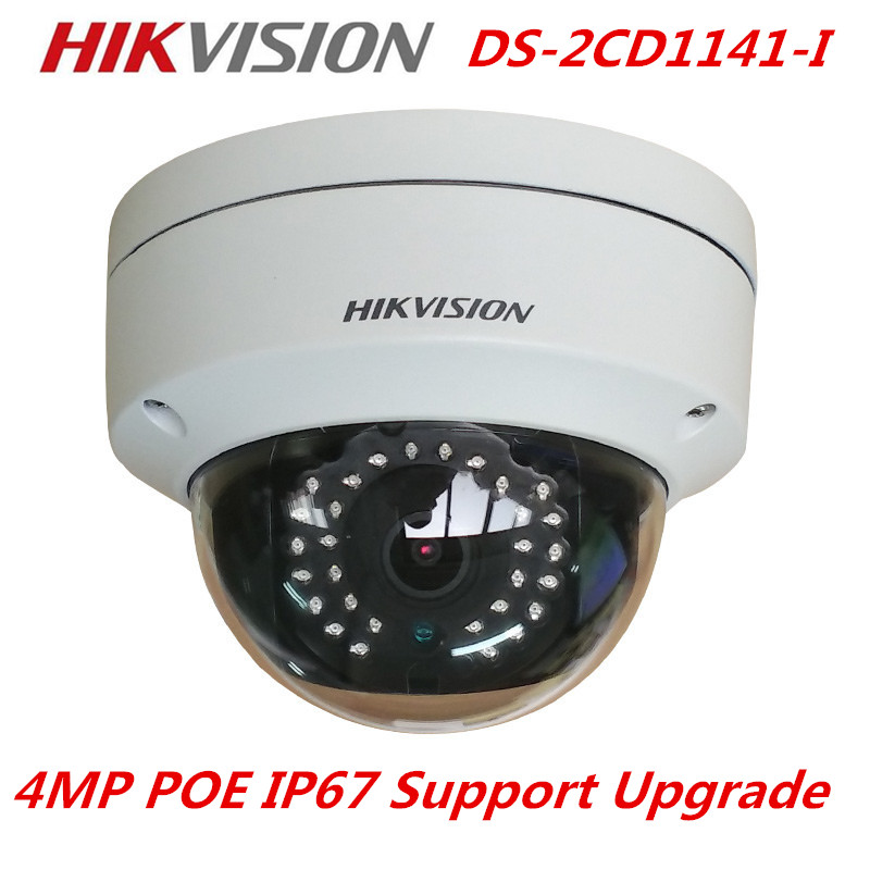 New Arrival HIKvision English Model 4MP CMOS Network Dome Camera DS-2CD1141-I Fixed Lens IP Camera Replace DS-2CD2145F-IS free shipping in stock new arrival english version ds 2cd2142fwd iws 4mp wdr fixed dome with wifi network camera
