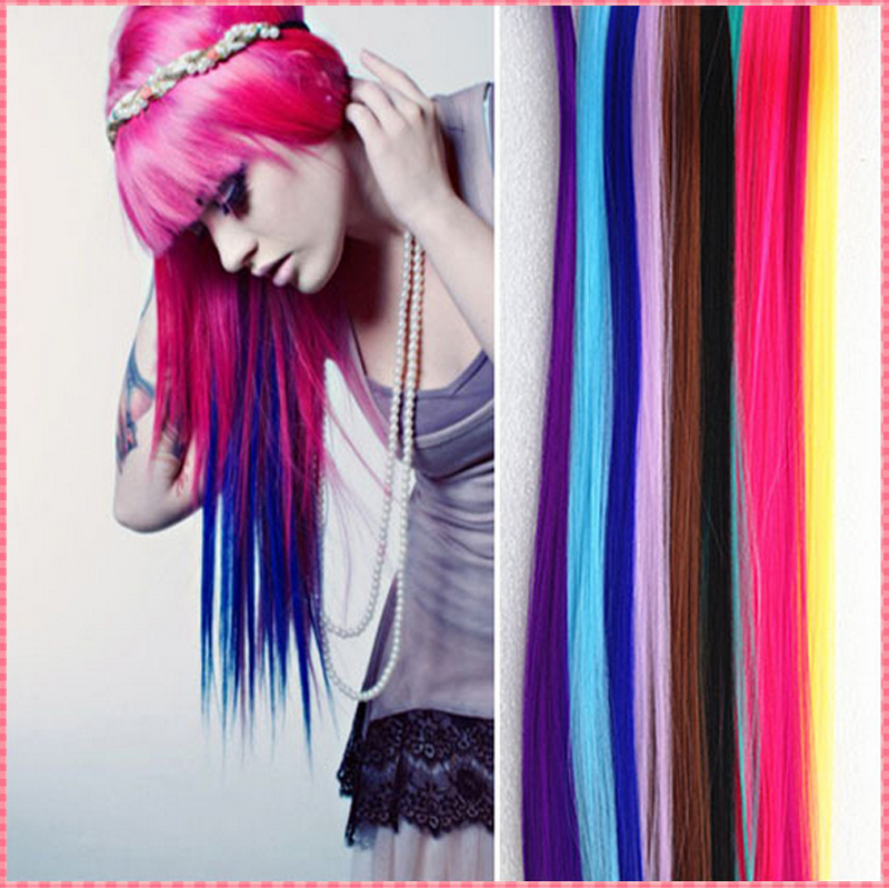 Fashion Hair Extension For Women Long Synthetic Clip In Extensions Straight Hairpiece Party
