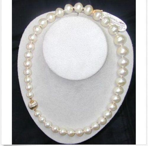 Mulheres shinning Presente palavra Amor mulheres Moda Jóias 18 polegadas 11-12 MM ENORME cultivadas de água doce branco colar de pérolas