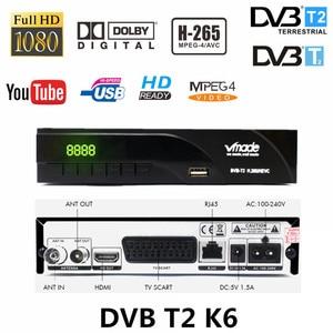 Image 1 - Recevoir le signal terrestre dvb tv box DVB T/DVB T2 H.265 aléa prendre en charge dobly AC3 youtube HD récepteur avec péritel dvb t2 k6 tv tuner