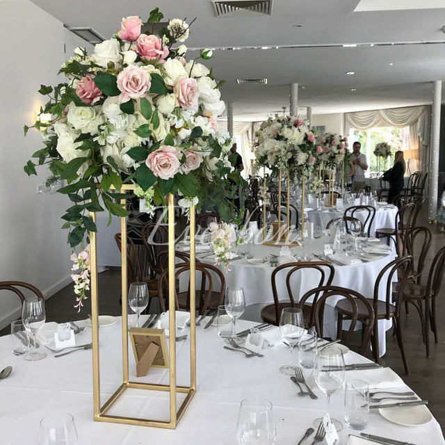 Aliexpress Buy Wedding Flower Vase Metal Flower Stand Gold
