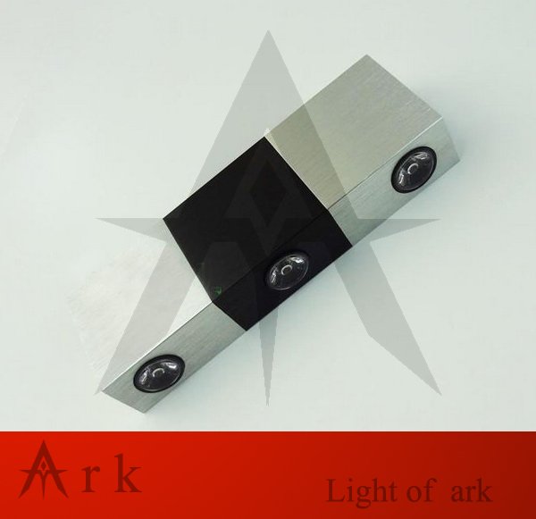 3W led indoor lighting modern brief black and white rectangle background led wall lamps Wall lights Decorative Lights
