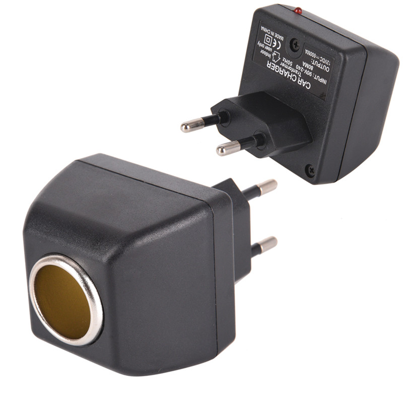 1Pc 220V AC to 12V DC use for car electronic devices use AC adapter with car socket auto charger EU plug(China)