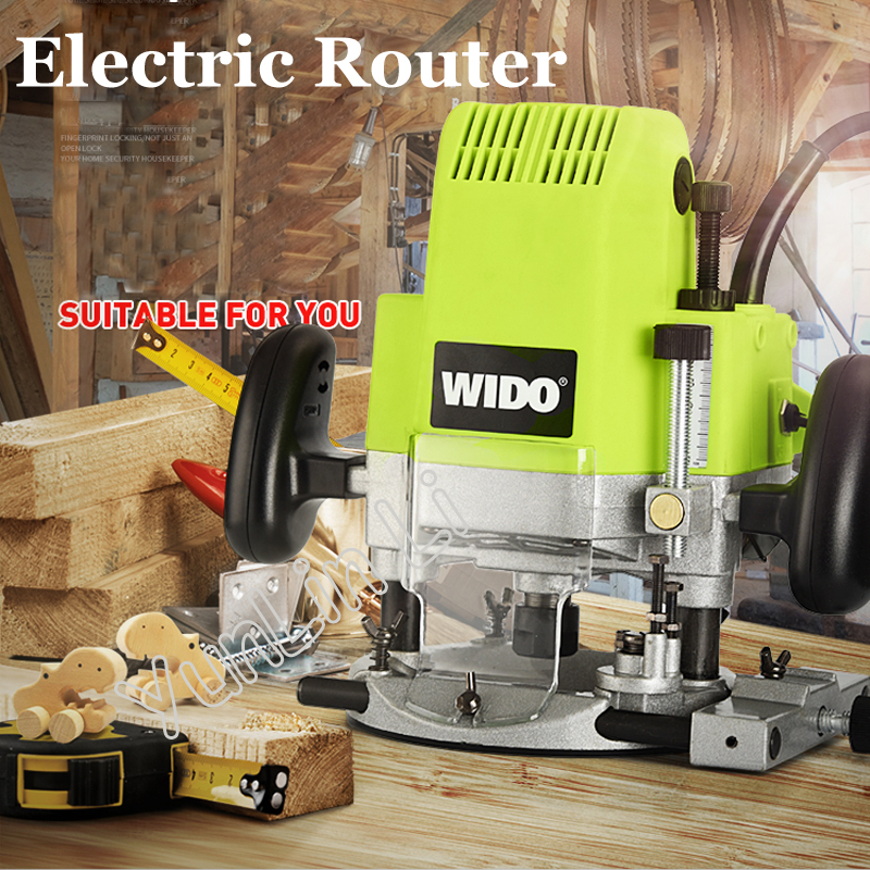 Electric Router Woodworking Trimmer Router 1850W Trimmer Slot Machine Electric Wood Milling Machine Multi-use Opening Machine